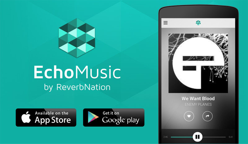 EchoMusic App for Android and iOS.